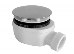Plast Brno - Sifon sprchový 90 SNÍŽENÝ v.63mm nerez DN40 Plast Brno, nízký  EWNN940 (EWNN940)