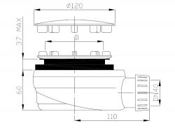 Sifon sprchový 90 SNÍŽENÝ v.63mm nerez DN40 Plast Brno, nízký  EWNN940 (EWNN940), fotografie 4/2