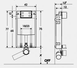 AKCE/SET/JOMO - SET JOMOTech Modul pro zazdění LIGHT + sedátko + WC  CERSANIT CLEANON CASPIA (164-14600479-00 CP1), fotografie 4/7