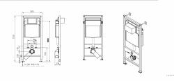 AKCE/SET/JOMO - SET JOMO Duofix modul pro závěsné WC + tlačítko + montážní sada + sedátko + WC CERSANIT CLEANON CARINA (174-91100900-00 CA3), fotografie 4/9
