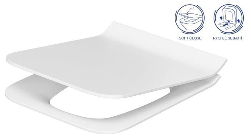JOMOTech modul pro závěsné WC s bílou deskou + WC CERSANIT CLEANON COMO + SEDÁTKO (174-91100900-00 CO1)