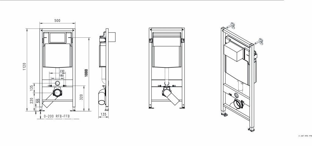 JOMOTech modul pro závěsné WC s bílou deskou + WC LAUFEN PRO RIMLESS + SEDÁTKO (174-91100900-00 LP1)