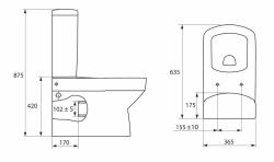 SET PURE (WC mísa+nádržka+sedátko Soft-close+ventily+šrouby+těsnění) (SET-PURE02), fotografie 14/13