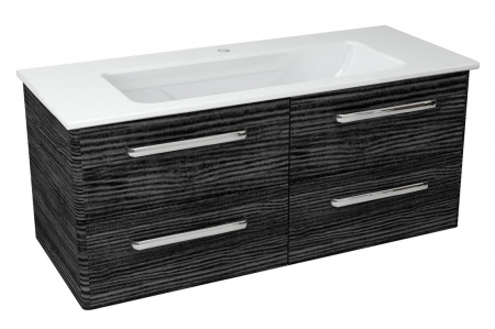 SAPHO - PURA umyvadlová skříňka 117x50,5x48,5cm, graphite line (PR123)