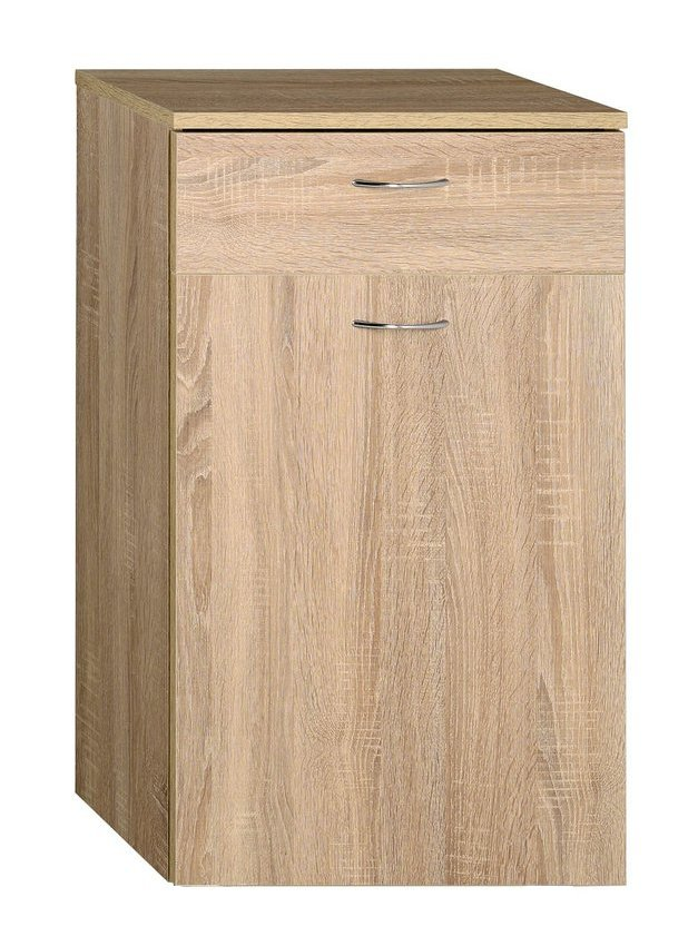 ZOJA/KERAMIA FRESH skříňka spodní s košem 50x78x29cm, dub platin (51313)