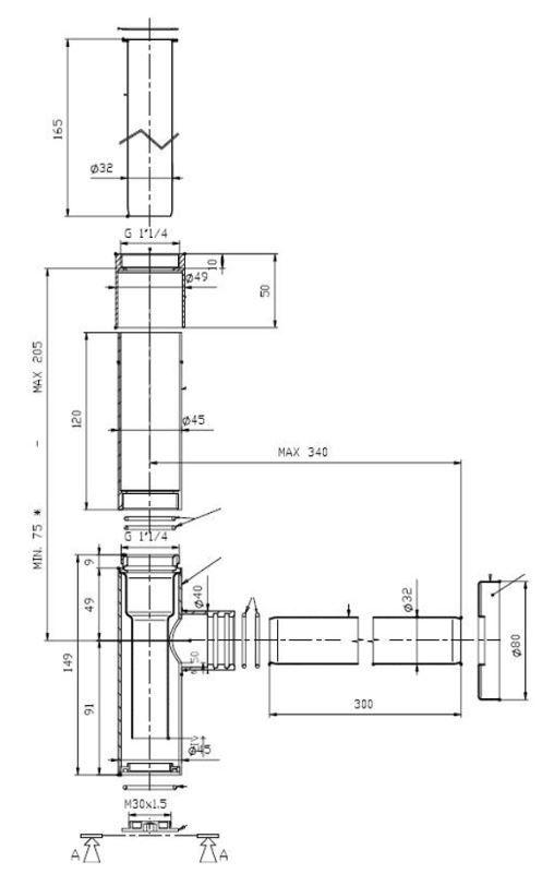 VÝPRODEJ - Totem - umyvadlový sifon, pochromovaná mosaz (A506403110VYP)