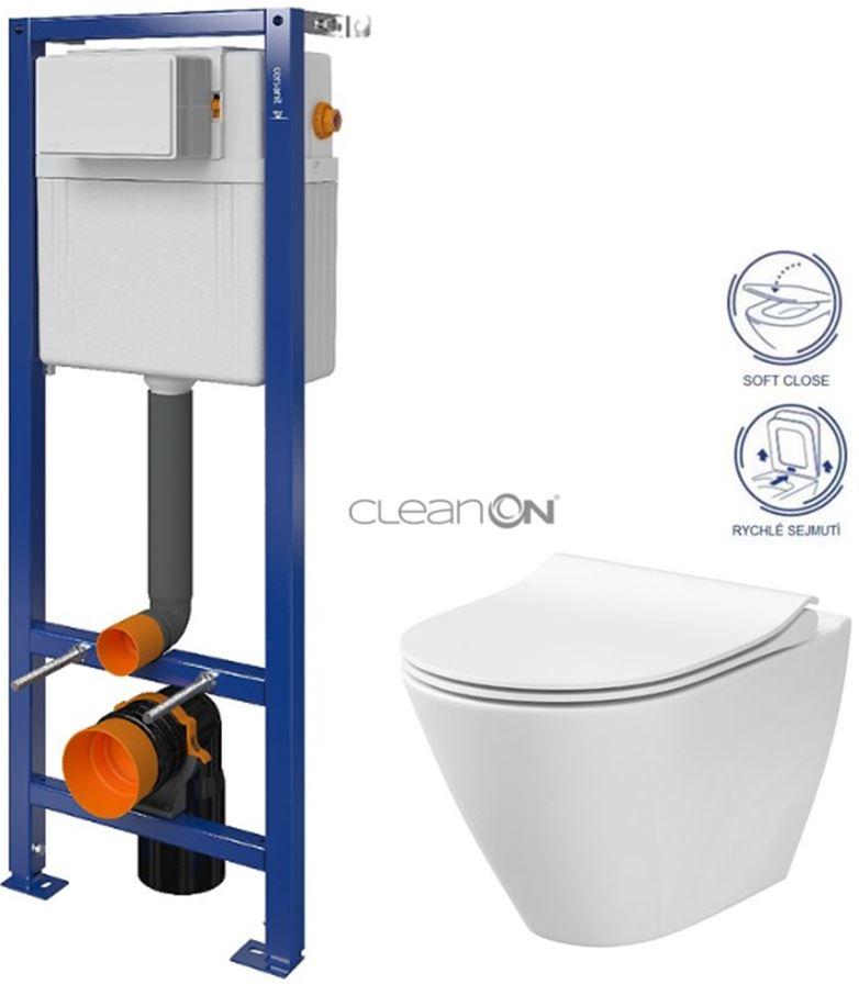 CERSANIT nádržka AQUA 02 bez tlačítka + WC CERSANIT CLEANON CITY S97-063 CI1