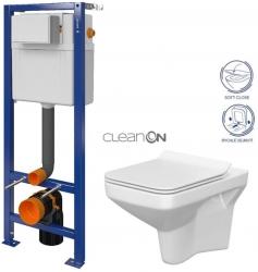 AKCE/SET/CERSANIT - SET Nádržka  AQUA 02 + SEDÁTKO + WC CERSANIT CLEANON COMO (S97-063 CO1)