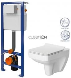 CERSANIT nádržka  AQUA 02 bez tlačítka + WC CERSANIT CLEANON SPLENDOUR + SEDÁTKO (S97-063 SP1)