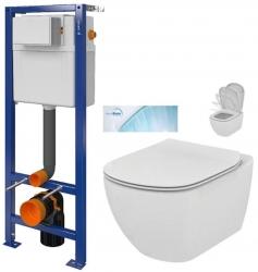 CERSANIT nádržka  AQUA 02 bez tlačítka + WC Ideal Standard Tesi se sedátkem SoftClose, AquaBlade  (S97-063 TE1)