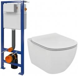CERSANIT nádržka  AQUA 02 bez tlačítka + WC Ideal Standard Tesi se sedátkem (S97-063 TE3)