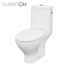 CERSANIT - WC KOMBI MODUO 666  010 3/5 CLEAN ON, SEDÁTKO SLIM WRAP DUROPLAST-SOFT CLOSE (K116-024)