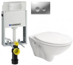 AKCE/SET/GEBERIT - SET KOMBIFIXBasic včetně ovládacího tlačítka DELTA 21 MAT pro závěsné WC CERSANIT MITO + SEDÁTKO (110.100.00.1 21MA MI1)