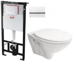 AKCE/SET/ALCAPLAST - SET Sádromodul - předstěnový instalační systém + tlačítko M1720-1 + WC CERSANIT MITO + SEDÁTKO (AM101/1120 M1720-1 MI1)