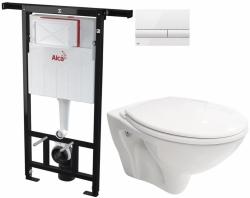 AKCE/SET/ALCAPLAST - SET Jádromodul - předstěnový instalační systém + tlačítko M1710 + WC CERSANIT MITO + SEDÁTKO (AM102/1120 M1710 MI1)