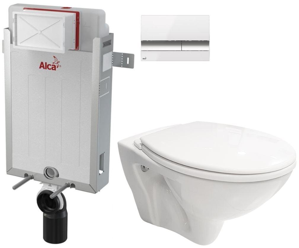 AKCE/SET/ALCAPLAST SET Renovmodul předstěnový instalační systém + tlačítko M1720-1 + WC CERSANIT MITO + SEDÁTKO AM115/1000 M1720-1 MI1