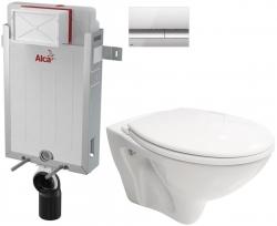 AKCE/SET/ALCAPLAST - SET Renovmodul - předstěnový instalační systém + tlačítko M1721 + WC CERSANIT MITO + SEDÁTKO (AM115/1000 M1721 MI1)