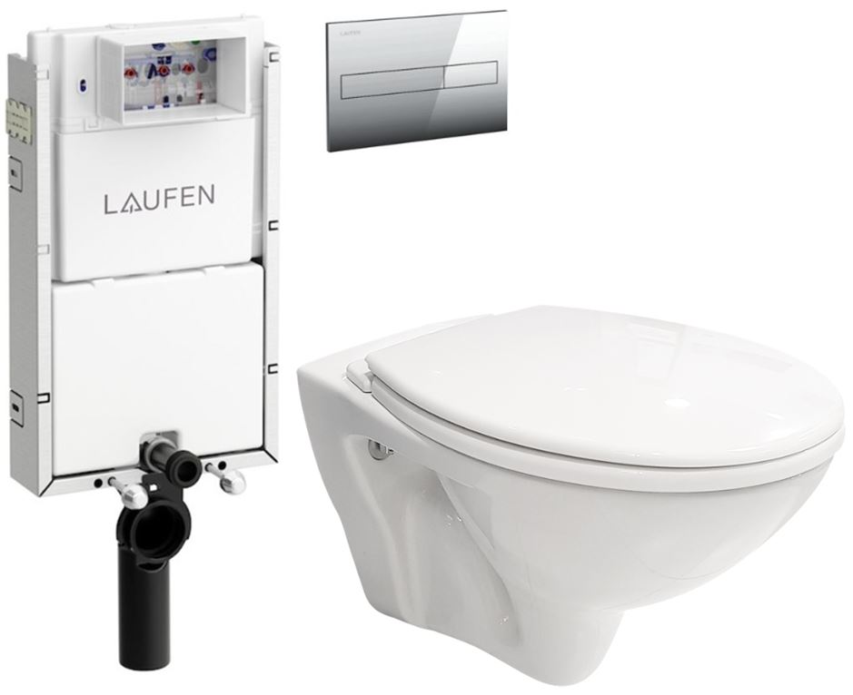 AKCE/SET/LAUFEN Podomít. systém LIS TW1 SET + ovládací tlačítko CHROM + WC CERSANIT MITO + SEDÁTKO H8946630000001CR MI1