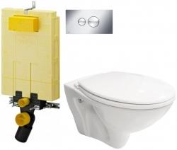 AKCE/SET/VIEGA - SET MONO modul WC čelní ovládání + ovládací tlačítko CHROM + WC CERSANIT MITO + SEDÁTKO (V606732CR MI1)