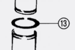 """JOMO - TĚSNICÍ KROUŽEK """"O"""" PŘEDNÍ PRO MODULY TOP 6 (potrubí na přívod vody z nádržky) (171-20300100-00)"""