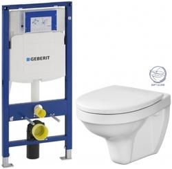 SET Duofix pro závěsné WC 111.300.00.5 bez ovládací desky + WC CERSANIT DELFI + SOFT SEDÁTKO (111.300.00.5 DE2) - AKCE/SET/GEBERIT