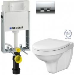 AKCE/SET/GEBERIT - SET KOMBIFIXBasic včetně ovládacího tlačítka DELTA 50 CR pro závěsné WC CERSANIT DELFI + SOFT SEDÁTKO (110.100.00.1 50CR DE2)