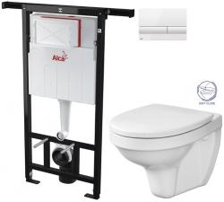 SET Jádromodul - předstěnový instalační systém + tlačítko M1710 + WC CERSANIT DELFI + SOFT SEDÁTKO (AM102/1120 M1710 DE2) - AKCE/SET/ALCAPLAST