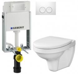 AKCE/SET/GEBERIT - SET KOMBIFIXBasic včetně ovládacího tlačítka DELTA 21 Bílé pro závěsné WC CERSANIT DELFI + SEDÁTKO (110.100.00.1 21BI DE1)
