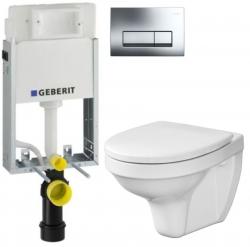 AKCE/SET/GEBERIT - SET KOMBIFIXBasic včetně ovládacího tlačítka DELTA 51 CR pro závěsné WC CERSANIT DELFI + SEDÁTKO (110.100.00.1 51CR DE1)
