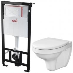 AKCE/SET/ALCAPLAST - SET Sádromodul - předstěnový instalační systém + WC CERSANIT DELFI + SEDÁTKO (AM101/1120 X DE1)