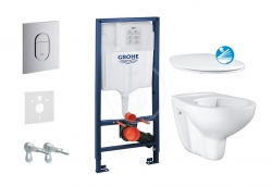 GROHE - Rapid SL Sada pro závěsné WC + klozet rimless a sedátko softclose 39418000 (38528SET-KA)
