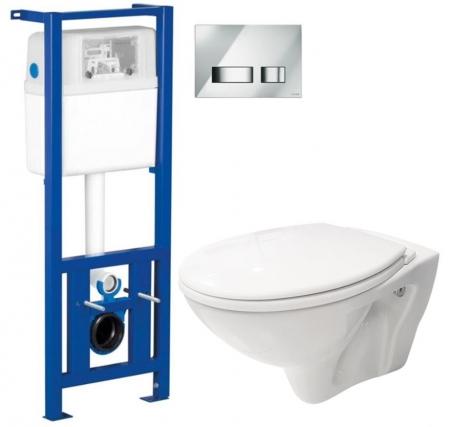 AKCE/SET/CERSANIT - Nádržka + WC + sedátko + tlačítko /K97-108+S97-026+TK002-001+K98-0007/ (SET/0004)