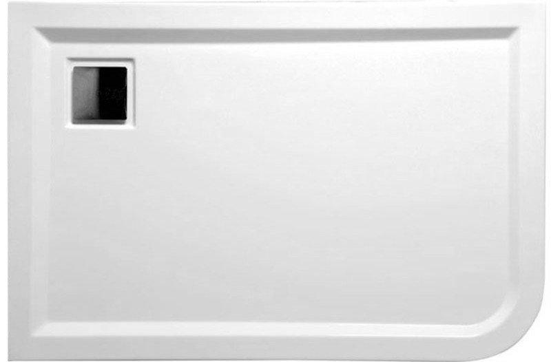 LUNETA sprchová vanička akrylátová, obdélník 120x80x4cm, levá, bílá (53511)
