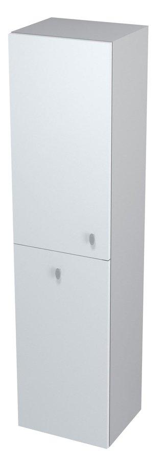 AILA skříňka vysoká s košem 35x140x30cm, levá, bílá/stříbrná (55649)