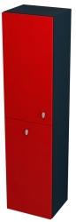 SAPHO - AILA skříňka vysoká s košem 35x140x30cm, levá, červená/černá (55671)