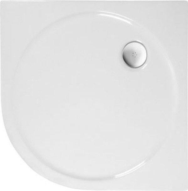 SONATA sprchová vanička akrylátová, čtvrtkruh 80x80cm, R550, bílá (56411)