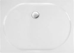 POLYSAN - ELIPSA sprchová vanička akrylátová, obdélník 100x80x4cm, bílá (67511)