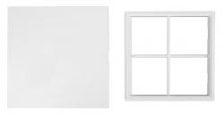 AQUALINE - Vanová dvířka 150x150mm, bílá (5005), fotografie 2/3