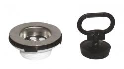 SAPHO - Umyvadlová nerez výpust 1'1/4 zátka s uchem (CV1019)