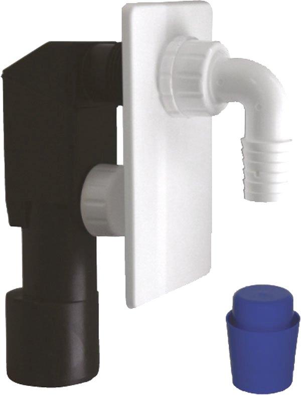 Podomítkový pračkový sifon 40/50mm, plast (CV1023)