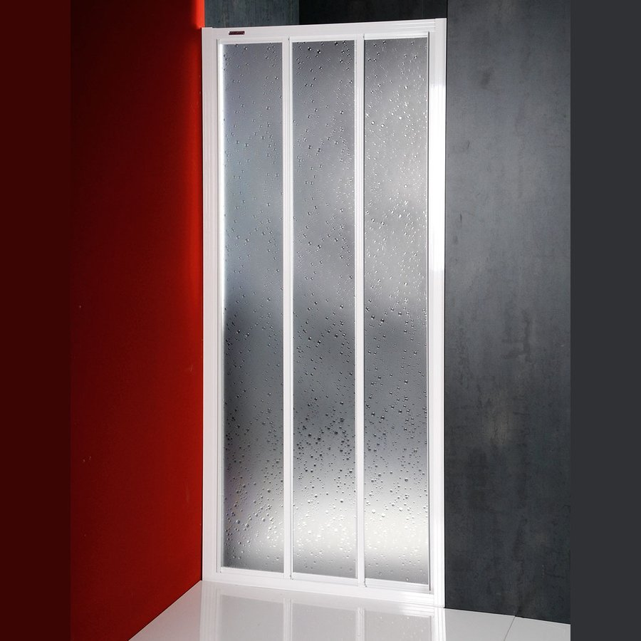 AQUALINE DTR sprchové dveře posuvné 800mm, bílý profil, polystyren výplň DTR-C-80
