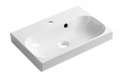 SAPHO - JOY umyvadlo 50x37cm, litý mramor, bílé (FDT-537)