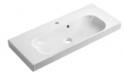 SAPHO - JOY umyvadlo 80x37cm, litý mramor, bílé (FDT-837)