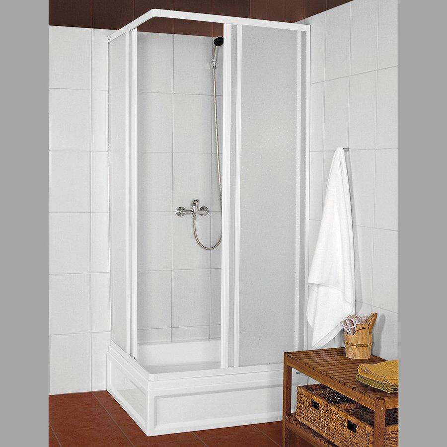 KNS čtvercová sprchová zástěna 900x900mm, bílý profil, polystyren výplň (KNS-C-90)