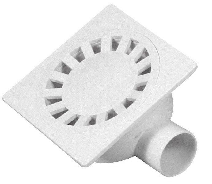 Podlahová vpust 149x149, odpad 50mm, bílá (SI50000)