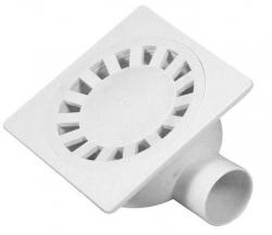 SAPHO - Podlahová vpust 149x149, odpad 50mm, bílá (SI50000)