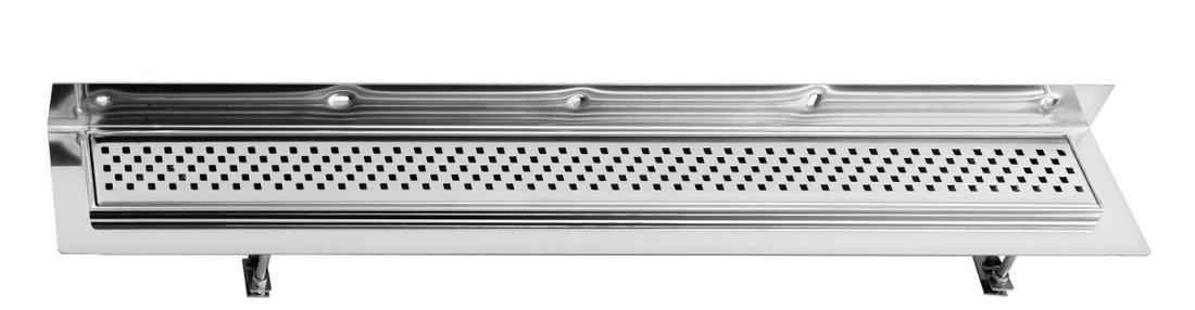 CORNER 97 nerezový sprchový kanálek s roštem, ke zdi 970x130x82 mm (FP439) SAPHO