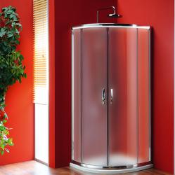 GELCO - SIGMA čtvrtkruhová sprchová zástěna 800x800 mm, R550, dvoje dveře, sklo Brick (SG3158)