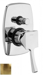 CHIC podomítková sprchová baterie, 2 výstupy, bronz (42188-06) - Effepi