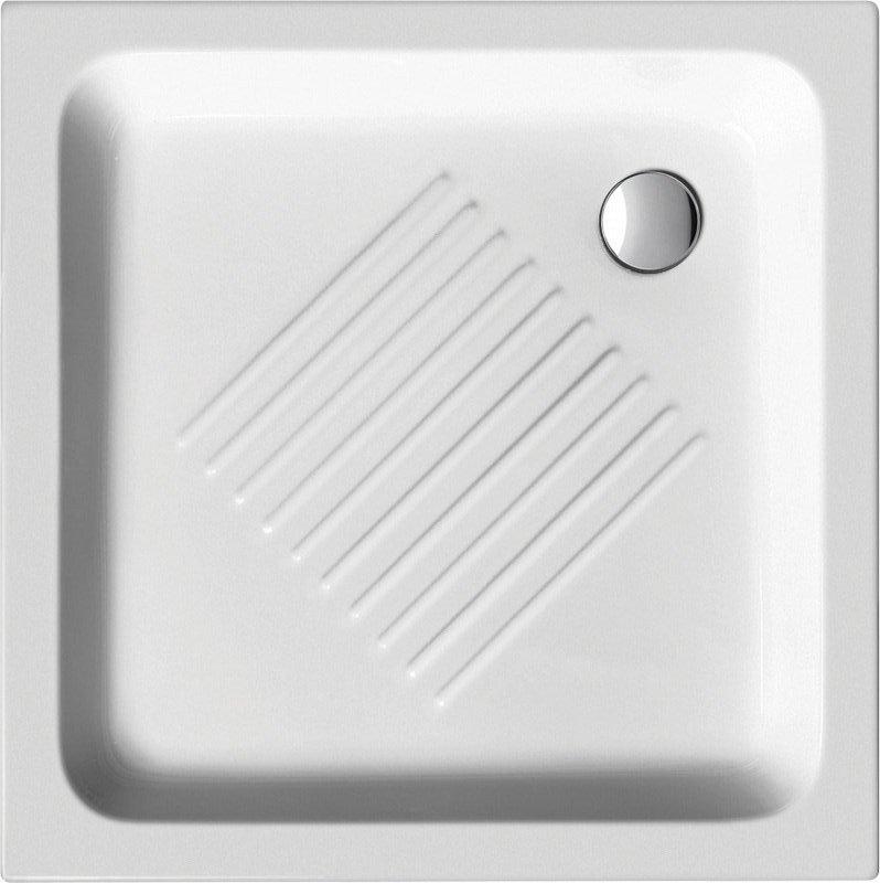 Keramická sprchová vanička, čtverec 80x80x10cm (438011)